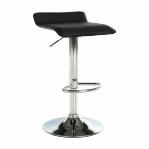 Produkt Barová stolička, ekokoža čierna/chróm, LARIA NEW