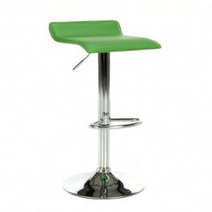 Produkt Barová stolička, ekokoža zelená/chróm, LARIA NEW