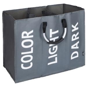 Produkt Látkový kôš na bielizeň, sivá/strieborná/biela, DEKLIN