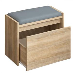 Produkt Lavica s úložným priestorom, dub sonoma, BERGI