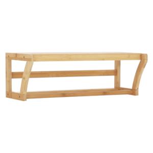 Produkt Polica s tyčou, prírodný bambus, LELA TYP 1