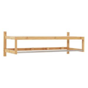 Produkt Polica s tyčou a háčikmi, prírodný bambus, LELA TYP 2