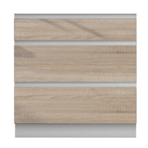Produkt Dolná skrinka D 80 3, dub sonoma/biela, LINE