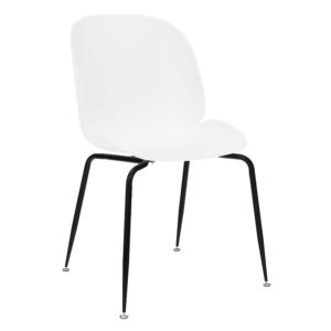 Produkt Jedálenská stolička, biela/čierna, MENTA