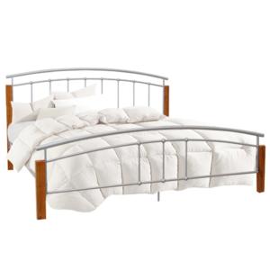 Produkt Manželská posteľ, drevo jelša/strieborný kov, 160×200, MIRELA