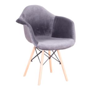 Produkt Moderné kreslo, sivohnedá Taupe Velvet látka, DAREL TYP 3