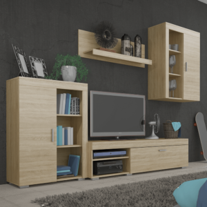 Produkt Obývacia stena, dub sonoma, MYSTIE