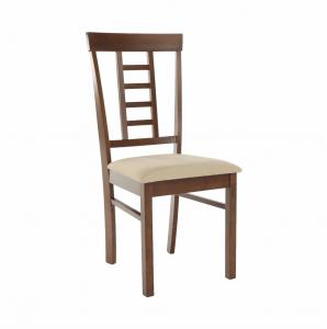 Produkt Jedálenská stolička, orech/béžová, OLEG NEW