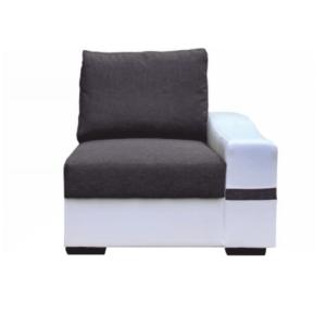 Produkt 1-sed, biela/sivá, pravý, OREGON 05-1SED+BOK