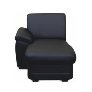 Produkt Otoman, ekokoža čierna, ľavá, BITER OTT 1B L