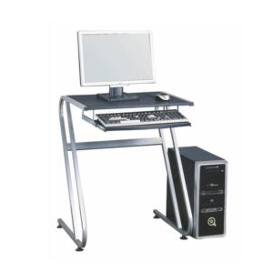 Produkt PC stôl, čierna+strieborná, JOFRY