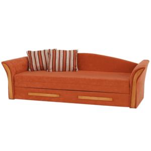 Produkt Pohovka, oranžová/pruhovaný vzor/jelša, PATRYK