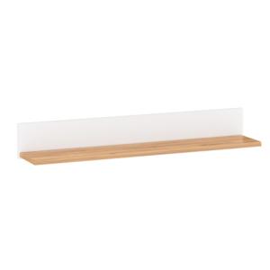 Produkt Polica, biela alba/dub craft zlatý, LANZETTE D