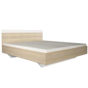 Produkt Manželská posteľ, dub sonoma/biela, 180×200, GABRIELA