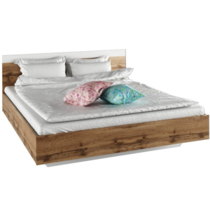 Produkt Manželská posteľ, 160×200, dub wotan/biela, GABRIELA