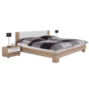 Produkt Manželská posteľ, s 2 nočnými stolíkmi, dub sonoma/biela, 180×200, MARTINA