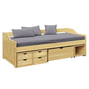 Produkt Posteľ s úložným priestorom, prírodná, 90×200, MAXI NEW