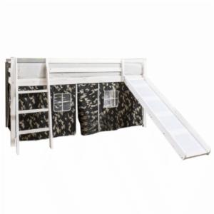 Produkt Detská posteľ so šmykľavkou, borovicové drevo biela, VERDI