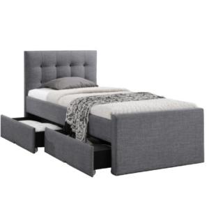 Produkt Moderná posteľ, sivá, 90×200, VISKA NEW
