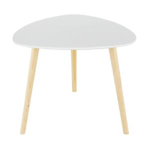 Produkt Príručný stolík, biela/drevo natural, TAVAS