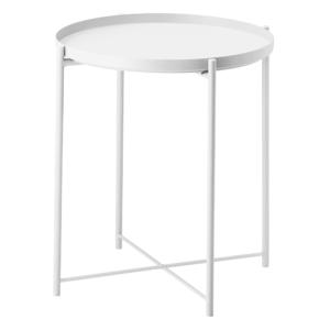 Produkt Príručný stolík s odnímateľnou táckou, biela, TRIDER