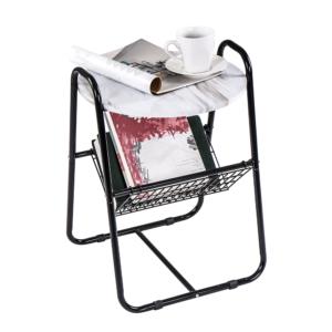 Produkt Príručný stolík, mramor/čierna, GARSY