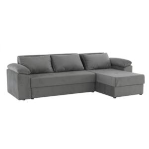 Produkt Rohová sedacia súprava, univerzálna, sivá, DALAS