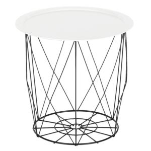Produkt Príručný stolík, biela/čierna, SALERO