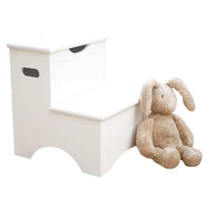 Produkt Detské schodíky s úložným priestorom, biela, HURLEY
