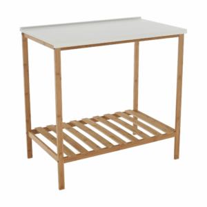 Produkt Stôl s policou, prírodná/biela, SELENE TYP 5