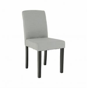 Produkt Jedálenská stolička, svetlosivá/čierna, SELUNA