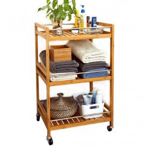 Produkt Servírovací vozík, prírodný bambus, NASHY