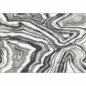 Produkt Koberec,  biela/čierna/vzor, 67×120, SINAN