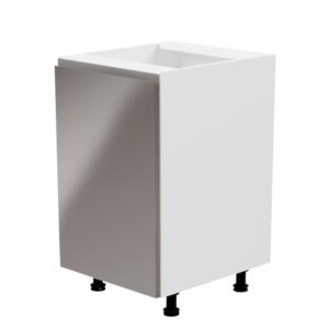 Produkt Spodná skrinka, biela/sivá extra vysoký lesk, ľavá, AURORA D601F