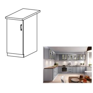 Produkt Spodná skrinka, sivá matná/biela, ľavá, LAYLA D30
