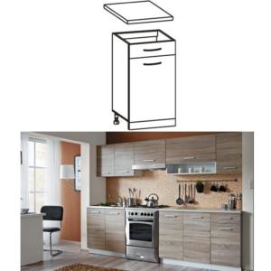 Produkt Skrinka do kuchyne, dolná, dub sonoma/biela, CYRA NEW D1S-40
