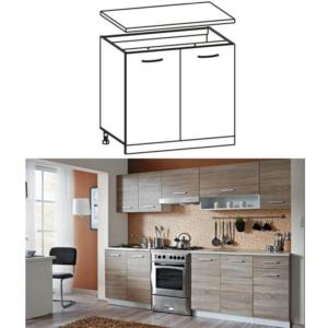 Produkt Skrinka do kuchyne, dolná, dub sonoma/biela, CYRA NEW D 60