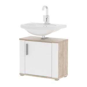 Produkt Skrinka pod umývadlo, biela pololesk/dub sonoma, LESSY LI 02
