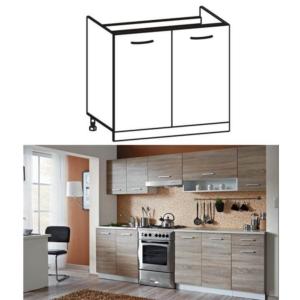 Produkt Skrinka do kuchyne, drezová, dub sonoma/biela, CYRA NEW DZ 80