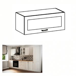 Produkt Horná skrinka G80KS so sklom, biela/sosna Andersen, SICILIA