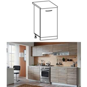 Produkt Skrinka do kuchyne, dolná, dub sonoma/biela, CYRA NEW D 30