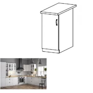 Produkt Dolná skrinka D40, ľavá, biela/sosna andersen, PROVANCE