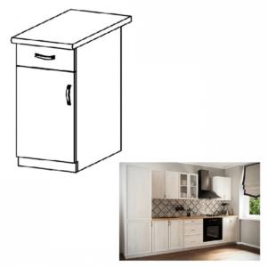 Produkt Dolná skrinka D40S1, ľavá, biela/sosna Andersen, SICILIA