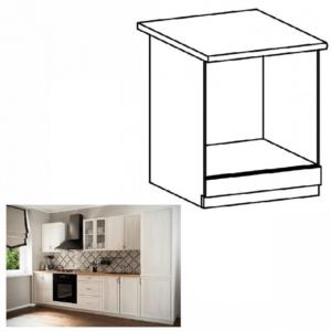 Produkt Dolná skrinka na vstavané spotrebiče D60ZK, biela/sosna Andersen, SICILIA
