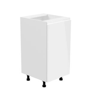 Produkt Spodná skrinka, biela/biela extra vysoký lesk, pravá, AURORA D40