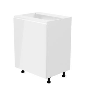 Produkt Spodná skrinka, biela/biela extra vysoký lesk, ľavá, AURORA D601F