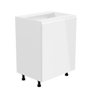 Produkt Spodná skrinka, biela/biela extra vysoký lesk, pravá, AURORA D601F