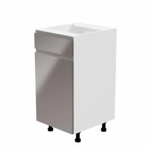 Produkt Spodná skrinka, biela/sivá extra vysoký lesk, ľavá, AURORA D40S1