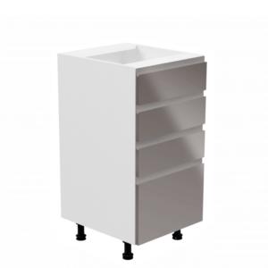 Produkt Spodná skrinka, biela/sivá extra vysoký lesk, AURORA D40S4