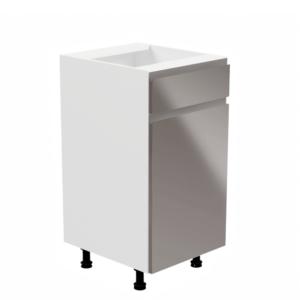 Produkt Spodná skrinka, biela/sivá extra vysoký lesk, pravá, AURORA D40S1